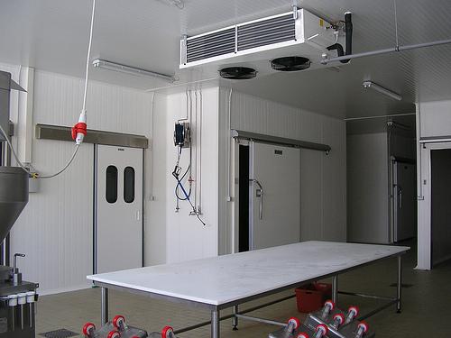 Sala lavoroazione con evaporatore doppio flusso