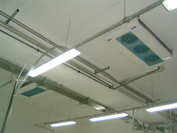 Climatizzazione sale lavoro e ambienti lavorazione  con evaporatore doppio flusso