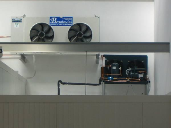 Evaoporatore in cella frigorifera
