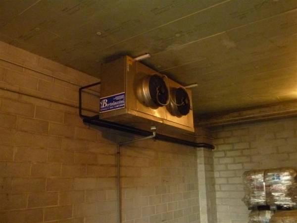 Evaporatore in cella frigo per conservazione pelli grezze e pelli pregiate