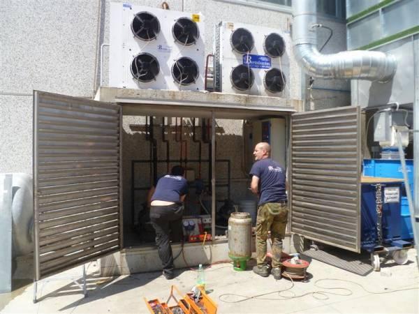 Interventi di manutenzione impianto refrigerazione di una conceria
