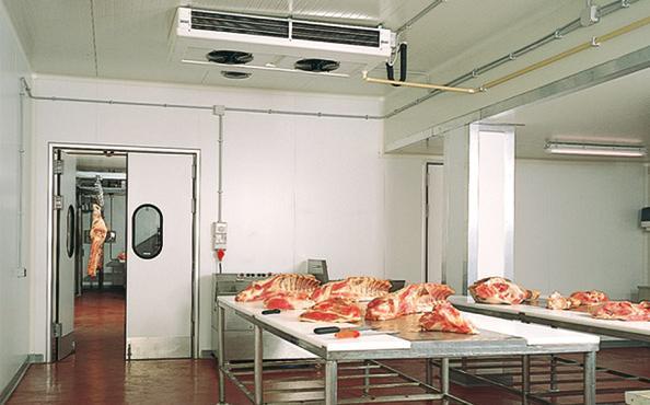 Evaporatore a soffitto per stabilitemento alimentare