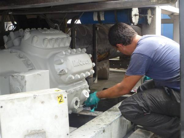 Assistenza e Manutenzione compressore impianto refrigerazione industriale