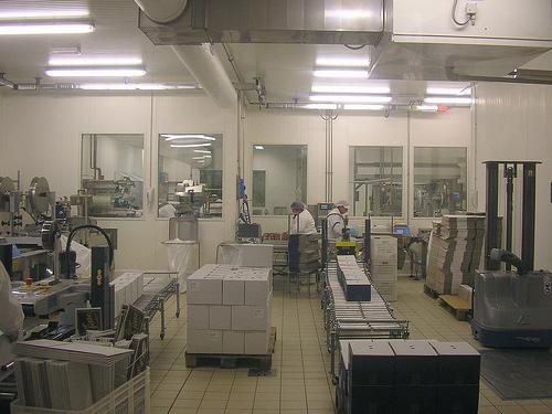Climatizzazione ambienti lavoro con UTA - Sala confezionamento