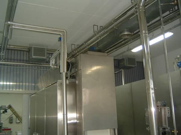 Climatizzazione ambienti lavoro - Impianto refrigerazione pastificio