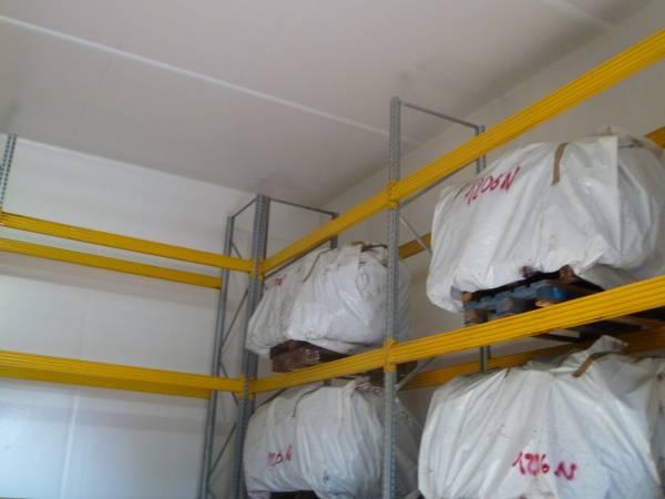 Cella frigo con scaffali porta pallets